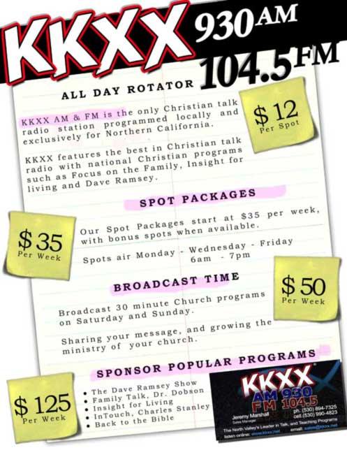KKXX Advertising Price Sheet