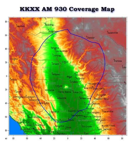 KKXX Coverage Map